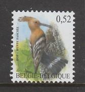 TIMBRE NEUF DE BELGIQUE - OISEAU DE BUZIN : HUPPE FASCIEE N° Y&T 3193