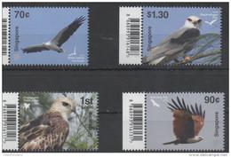 SINGAPORE, 2016, MNH, BIRDS OF PREY, EAGLES, 4v