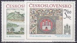 ** Tchécoslovaquie 1977 Mi 2418-9 (Yv 2251-2), (MNH)
