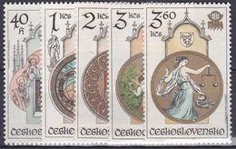 ** Tchécoslovaquie 1978 Mi 2451-5 (Yv 2284-8), (MNH)