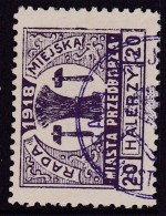 POLAND Przedborz 1918 Local Fi 18 Forgery Used - ....-1919 Provisional Government