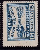 POLAND Przedborz 1918 Local Fi 17 Forgery Used - ....-1919 Provisional Government