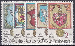 ** Tchécoslovaquie 1979 Mi 2507-11 (Yv 2335-9), (MNH)