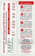 Marque-page Thème Santé - Polyarthrite AFPric - Dimensions 18 Cm X 5 Cm - Marque-Pages