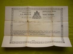 Document Diplôme Religieux En Latin à Déchiffrer Constantinus Constantine 27 X 40 Cm