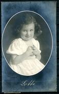 "CPA S/w Photo AK German Empires,DR 1917 ""Lotte-little Girl,Girli,Mädchen "" 1 AK Used - Genealogie"