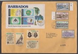BARBADES - BARBADOS / 1978 LETTRE RECOMMANDEE POUR LA SUISSE (ref GF21)