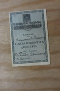 CARTA D'IDENTITA PIEGHEVOLE CON FOTOGRAFIA 1947 BUSCEMI SIRACUSA REPUBBLICA ITALIANA REGNO D'ITALIA - Werbung