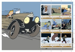 Ukraine. Tintin | Kuifje | In The Land Of The Soviets | Au Pays Des Soviets. Sheet. Personalized