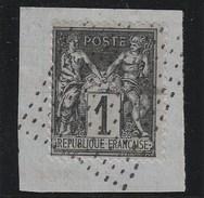 France 1877-80 - N° 83 - Rectangle De Points (Jour De L'an ?) Sur Fragment - Marcophily (detached Stamps)