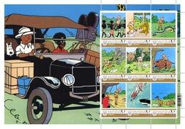 Ukraine. Tintin | Kuifje | In The Congo | Au Congo. Sheet. Personalized