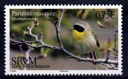 Saint Pierre And Miquelon, Bird, Common Yellowthroat (Geothlypis Trichas), 2017, MNH VF - Unused Stamps