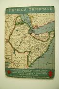 TUBERCOLOSI   CROCE ROSSA   AFRIQUE  AFRICA ORIENTALE CARTINA  COLONIALE  MILITARE  WW2   NON VIAGGIATA COME DA FOTO - Cruz Roja
