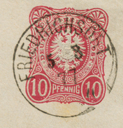 K1 Übergangsstempel Friedrichsort Auf Beleg 1877