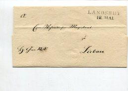 Bayern / Vorphila-Bf.-Huelle L2-o LANDSHUT (4617) - [1] ...-1849 Préphilatélie
