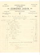 Facture De Edmond Jadin Peintures Du 13/5/1921 à Court-St-Etienne PR4121 - 1900 – 1949