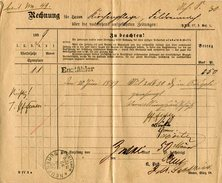 Wuerttemberg / 1899 / Zeitungs-Rechnung K1-o NEUENBUERG (4622)