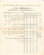 Facture De Th.Somville Datée De 1897 Entrepreneur à Court-St-Etienne Pour Clerc De Notaire à Court  PR4122 - Belgique