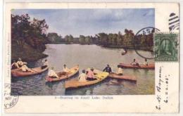 (Etats-Unis) Tx Texas 002, Dallas, Frank S Thayer 2, Boating On Exall Lake, état - Dallas