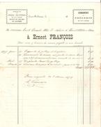 Facture De Ernest François Serres Fruitières Datée Juin 1897 à Court-St-Etienne Pour Clerc De Notaire à Court PR4123 - Belgique