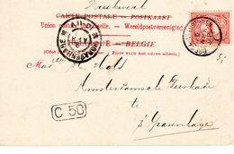 1902 Kleinrond BREDA-VLISSINGEN I Op Ansicht Van Anvers Naar 's-Gravenhage - Poststempels/ Marcofilie