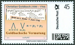 GOLDBACH, Chr. - Goldbach´s Conjecture - Mathematician, Mathematics -  Marke Individuell
