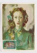 CARTE MAXIMUM CM Card USSR RUSSIA Art Painting Ballerina Plesetskaya Ballet Dance Music - 1923-1991 URSS