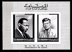 Bloc Neuf ** MNH Non Dentelé -  Manama - En Mémoire De Martin Luther King - Kennedy - Martin Luther King