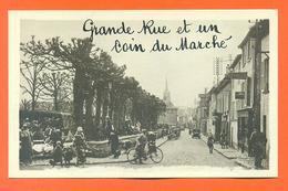 """CPA Saint Leu La Foret """" Grande Rue Et Un Coin Du Marché """" LJCP 35 - Saint Leu La Foret"""