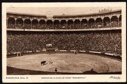 SPANIEN - Stierkampf - Barcelona Plaza De Tores Monumental - Gelaufen1929 - Stierkampf