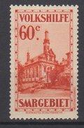 Saargebiet / Volkshilfe: Burgen Und Kirchen  / MiNr. 162 - Nuevos