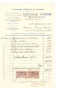 Facture De Edmond Jadin Entreprise De Peintures Datée Du 12/9/1924 à Court-St-Etienne PR4126 - 1900 – 1949