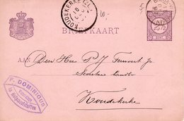 1897 Kleinrond BREDA-VLISSINGEN I Op Bk Met Firmalogo  Van Wemeldinge Naar KOUDEKERKE(ZL.) Grootrond - Poststempels/ Marcofilie