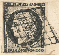 Stamp France 1849 20c  Used Lot#22 - 1849-1850 Ceres