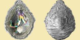 PALAU 2011 5 $ Dollars PEARL Hologram Shell Shape Coin Ag CoA Box UNC - Palau
