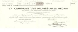 Prime D'assurance De La Compagnie Des Proptiétaires Réunis Agence De Court-St-Etienne Daté Du 14/5/1926 PR4127 - 1900 – 1949