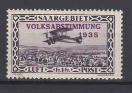 Saargebiet / Flugpostmarken: Volksabstimmung 1935  / MiNr. 197 - Allemagne