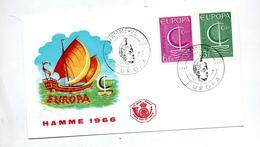 Lettre Fdc 1966 Europa