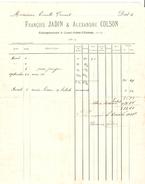 Facture Datée De 1904 De François Jadin & Alexendre Colson à Court-St-Etienne PR4130 - 1900 – 1949