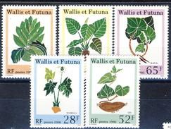 WF 1995 Serie N. 480-482 E 1996 Serie N. 487-488 Flora MNH Cat. € 7.10 - Wallis E Futuna