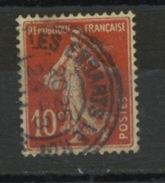 """FRANCE -   CACHET DOUBLE CERCLE """"LES ESSARTS LE ROI"""" SUR 10c SEMEUSE  - N° Yvert 131"""