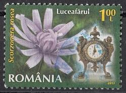 Romania 2013 Fiori Flowers Scorzonera Rosea Used Viaggiato - 1948-.... Repubbliche