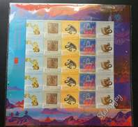 Macau Macao Year Of The Monkey 2016 Lunar Chinese Zodiac New Year (sheetlet) MNH *embossed *unusual