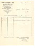 Facture Datée Du 24/2/1921 De Banque Centrale De La Dyle Agence De Court-St-Etienne PR4132 - 1900 – 1949