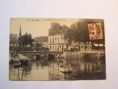 Cp1107 Tom17  QUIMPER Le Confluent Du Steir Et De L' Odet 1908 Barques Charette Animée - Quimper
