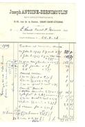 Facture Datée 24/5/1926 De Joseph Antoine - Bernimoulin Menuisier Entrepreneur à Court-St-Etienne PR4133 - 1900 – 1949