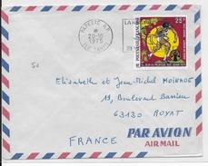 POLYNESIE - 1975 - ENVELOPPE Par AVION De PAPEETE Pour ROYAT - Polynésie Française