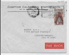 NOUVELLE CALEDONIE - 1958 - ENVELOPPE Par AVION De NOUMEA - Lettres & Documents
