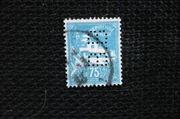 Perfin    Algérie   Perforé Lochung BB4