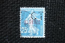 Perfin  Semeuse  Algérie   Perforé Lochung  CT17